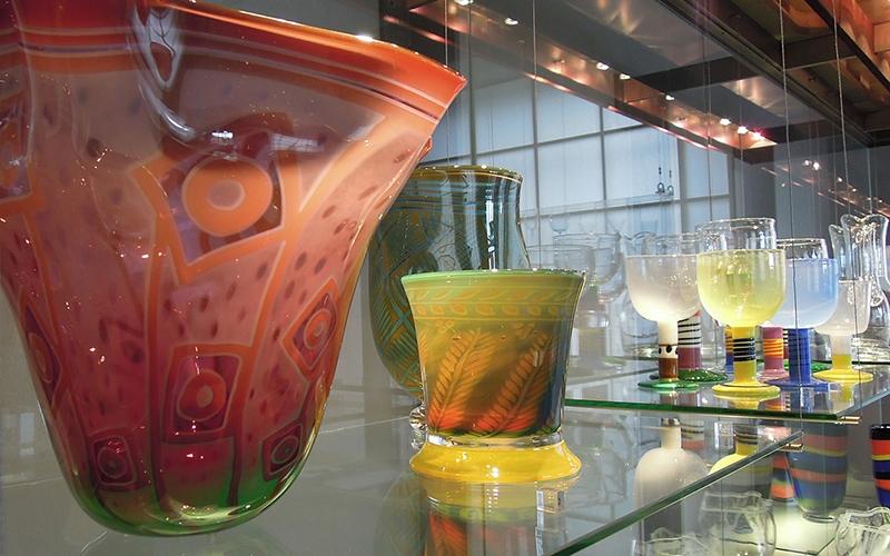 färgade glasvaser från gunnar cyren