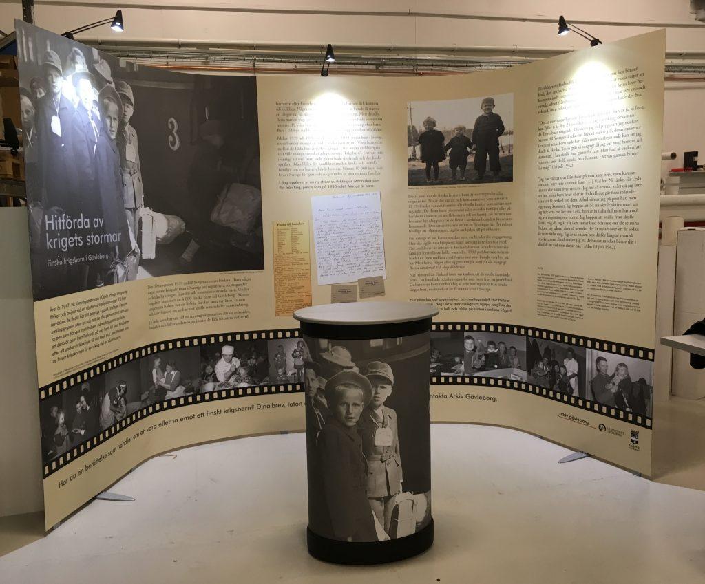 bild av utställning på en stor skärm
