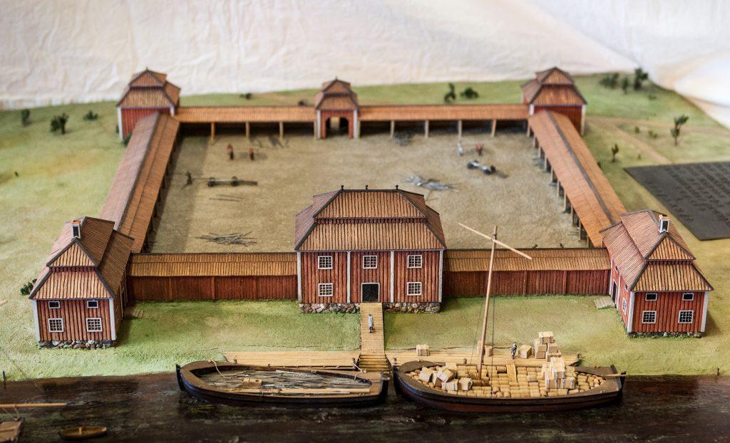 miniatyr modell av järnvåg