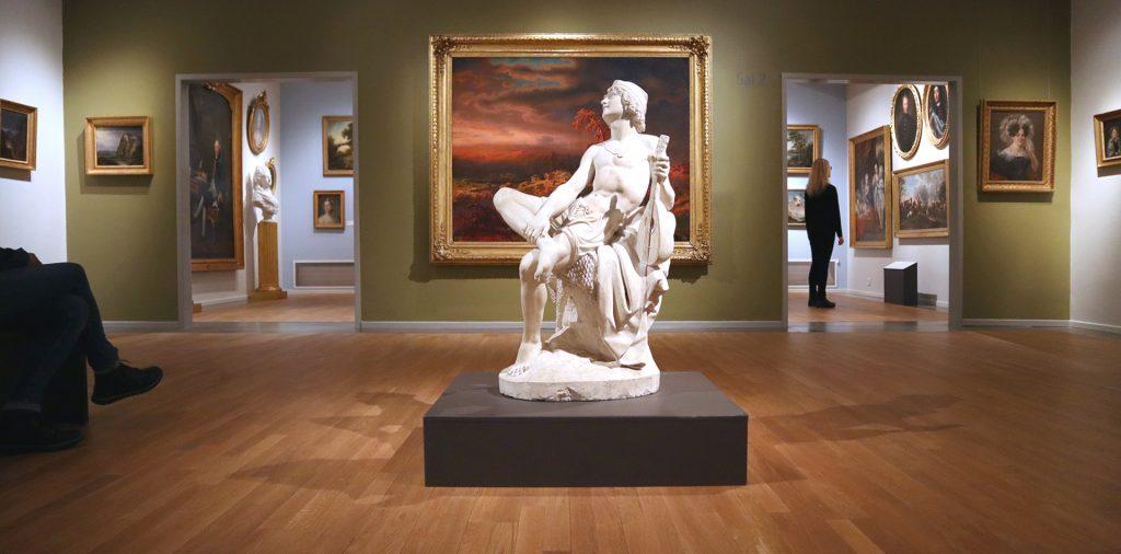 Skulptur i konstsal